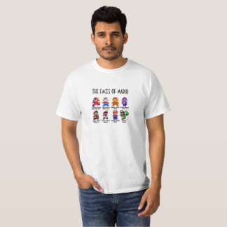 THE FACES OF MARIO T-Shirt
