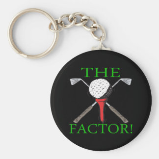 The Factor Basic Round Button Key Ring
