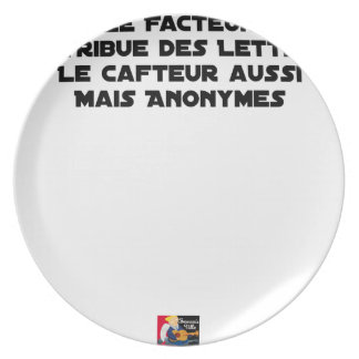 THE FACTOR DISTRIBUTES LETTERS, THE SNEAK TOO PLATE