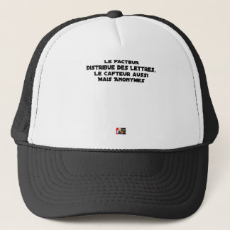 THE FACTOR DISTRIBUTES LETTERS, THE SNEAK TOO TRUCKER HAT