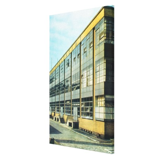 The Fagus Shoe Factory, designed by Walter Gropius Stretched Canvas Print