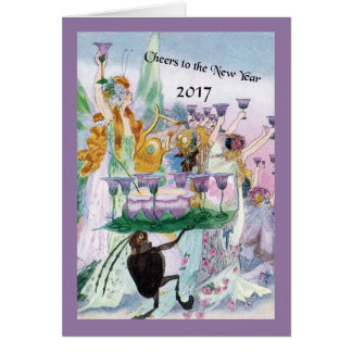 The Fairies Salute the New Year Card