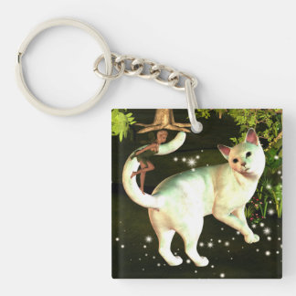 The fairy and the cat key chain