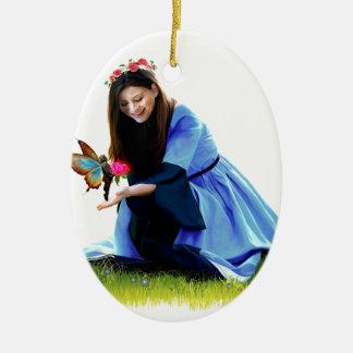 The Fairy and the Princess Ceramic Ornament