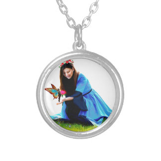 The Fairy and the Princess Silver Plated Necklace