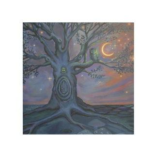 The Fairy Door Messenger by Susan Rodio Wood Canvases