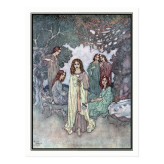 The Fairy of the Garden by Edmund Dulac Postcard