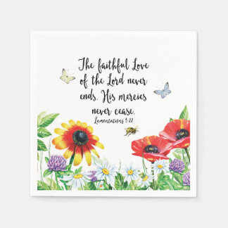 The Faithful Love of the Lord Never Ends Paper Napkin