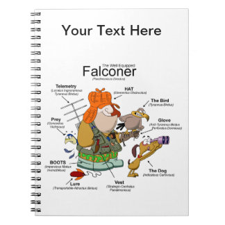 The Falconer Cartoon Spiral Notebook