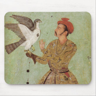 The Falconer, Mughal Gold & Celedon Mouse Pad