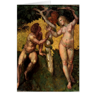 The Fall - Adam and Eve by Raphael or Raffaello Cards