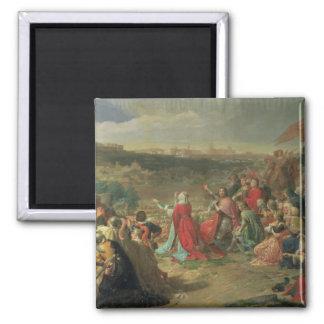 The Fall of Granada in 1492, 1890 Square Magnet