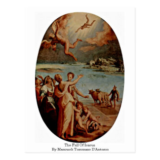 The Fall Of Icarus By Manzuoli Tommaso D'Antonio Postcard