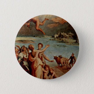 The Fall Of Icarus Oval By Manzuoli Tommaso D'Anto 6 Cm Round Badge
