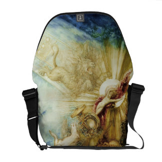 The Fall of Phaethon (w/c on paper) Messenger Bags