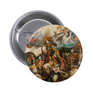 The Fall of the Rebel Angels - Pieter Bruegel 1562 6 Cm Round Badge