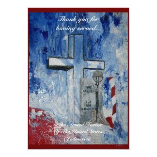 The Fallen,But Not Forgottenl 13 Cm X 18 Cm Invitation Card