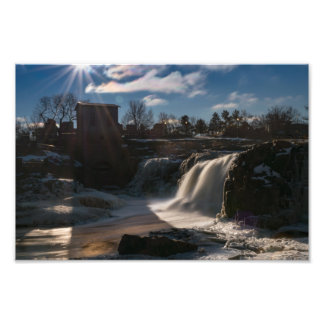 THE FALLS IN WINTER by Michelle Diehl Photo Print