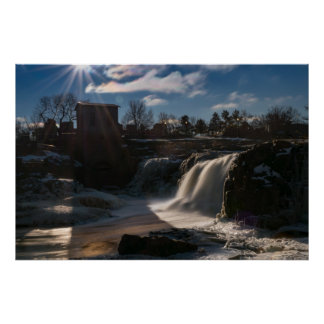 THE FALLS IN WINTER by Michelle Diehl Poster