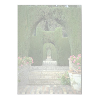 The famed gardens of the Alhambra, Granada, Spain 5x7 Paper Invitation Card