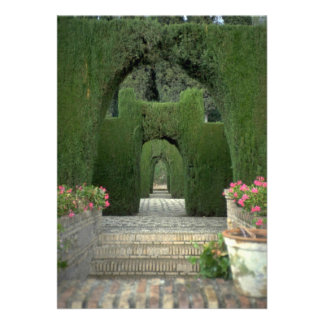 The famed gardens of the Alhambra Granada Spain Personalized Invitation