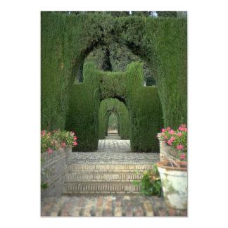 The famed gardens of the Alhambra, Granada, Spain 13 Cm X 18 Cm Invitation Card