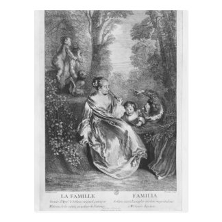 The Family, engraved by Pierre Aveline Postcard