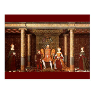 The Family of Henry VIII Postcard