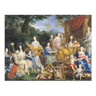 The Family of Louis XIV  1670 2 Postcard