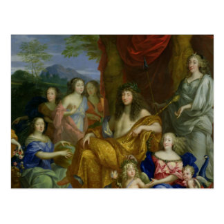 The Family of Louis XIV  1670 Postcard