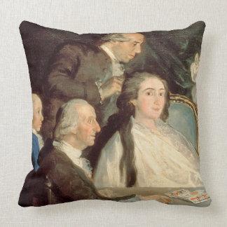 The Family of the Infante Don Luis de Borbon 2 Throw Pillow