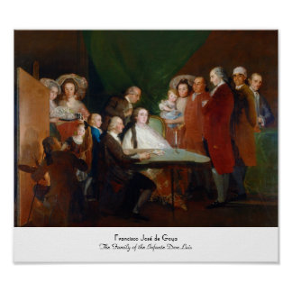 The Family of the Infante Don Luis Francisco Goya Poster