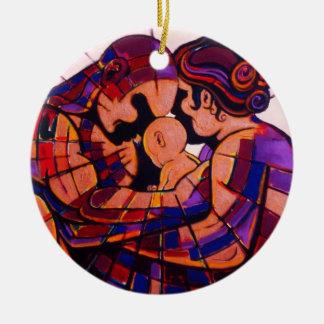 """The Family"" Round Ceramic Decoration"