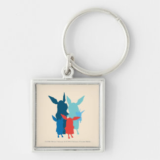 The Family - Silhouette Silver-Colored Square Key Ring