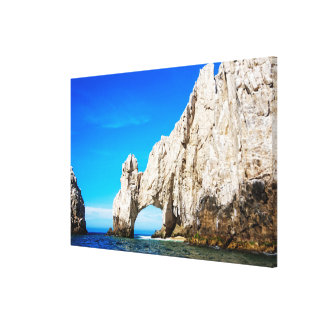 The Famous Arch In Cabo San Lucas Stretched Canvas Print