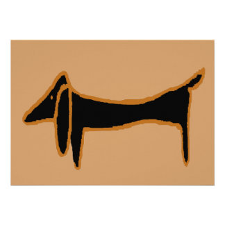 The Famous Black Dachshund Personalized Invitation