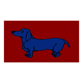 The Famous Blue Dachshund Dog Poster