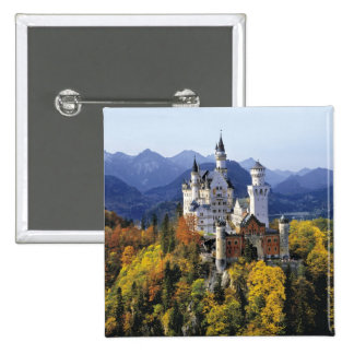 The fanciful Neuschwanstein is one of three 15 Cm Square Badge