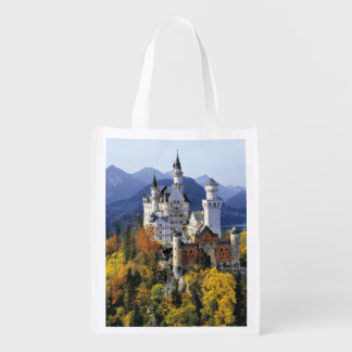 The fanciful Neuschwanstein is one of three Reusable Grocery Bag