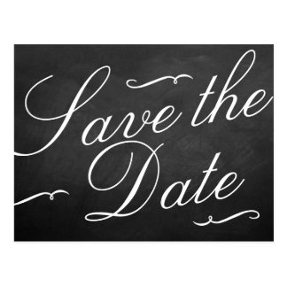 The Fancy Chalkboard Wedding Collection Postcard