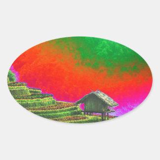 The Farm Oval Sticker