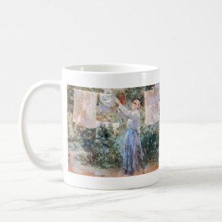 The farmer hanging laundry by Berthe Morisot Coffee Mug