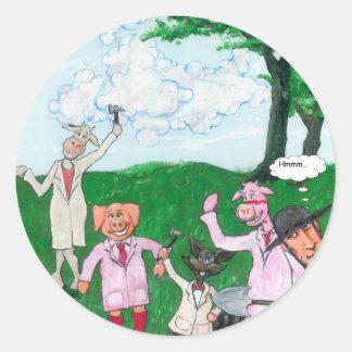 The Farmer Suspects Classic Round Sticker