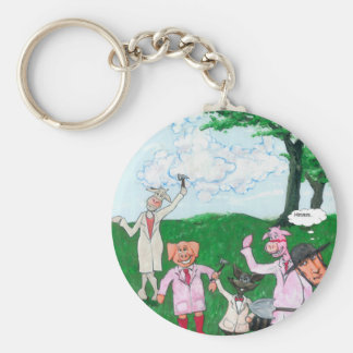 The Farmer Suspects Key Ring
