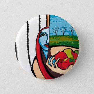 the farmer's wife 6 cm round badge