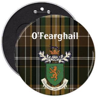 The Farrell Clan of Ireland coat of arms & tartan 6 Cm Round Badge
