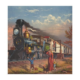 The Fast Mail Postal Service Train From 1875 Gallery Wrap Canvas