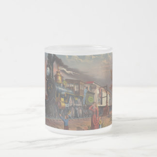The Fast Mail Postal Service Train From 1875 Frosted Glass Mug