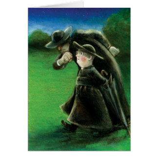 The Father Brown Reader Illustration Card
