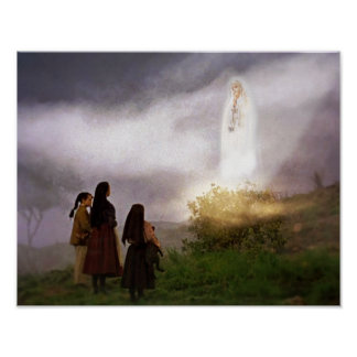 The Fatima Apparition Devotional Image Poster